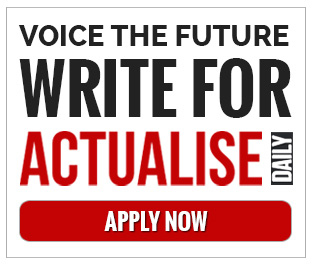 VOICE THE FUTURE WRITE FOR ACTUALISE