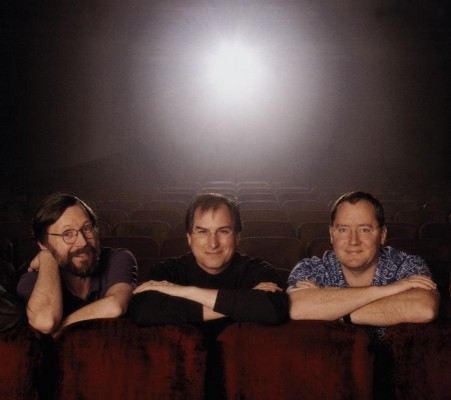 Pixar co-founders Ed Catmull, Steve Jobs, and John Lasseter.